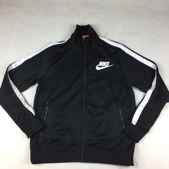 76aaebc6b12a Mens Medium Nike Track Jacket black   white. M 5a9cc35872ea88f219d68f06